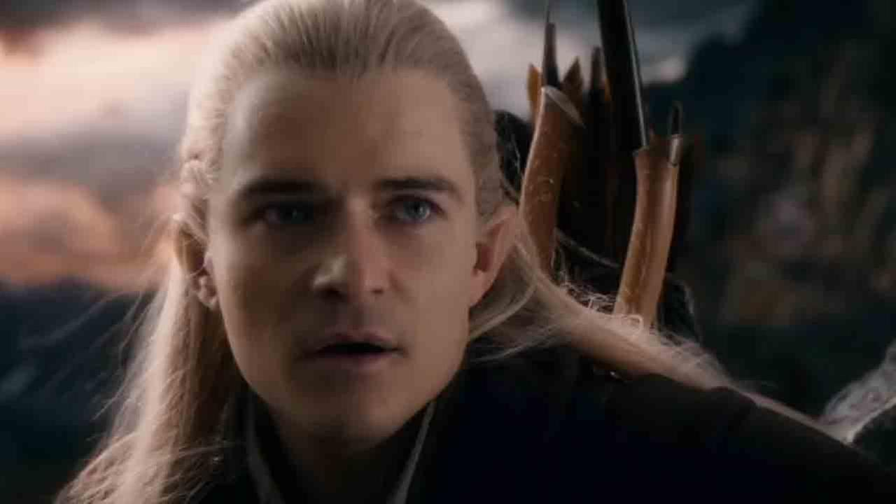 In this image released by Warner Bros. Pictures, Luke Evans, left, and Orlando Bloom appear in a scene from The Hobbit The Battle of the Five Armies.