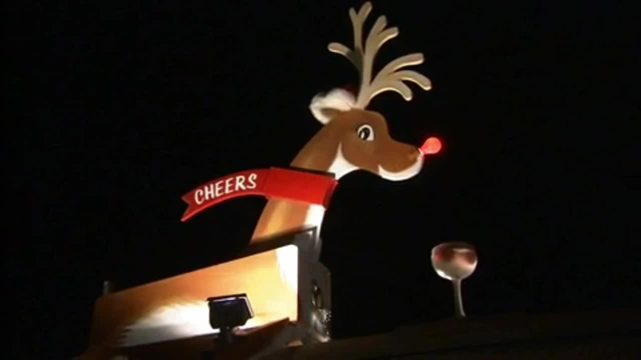 A Rolling Hills Estates neighborhood unveiled a new Rudolph on Sunday, Dec. 21, 2014.