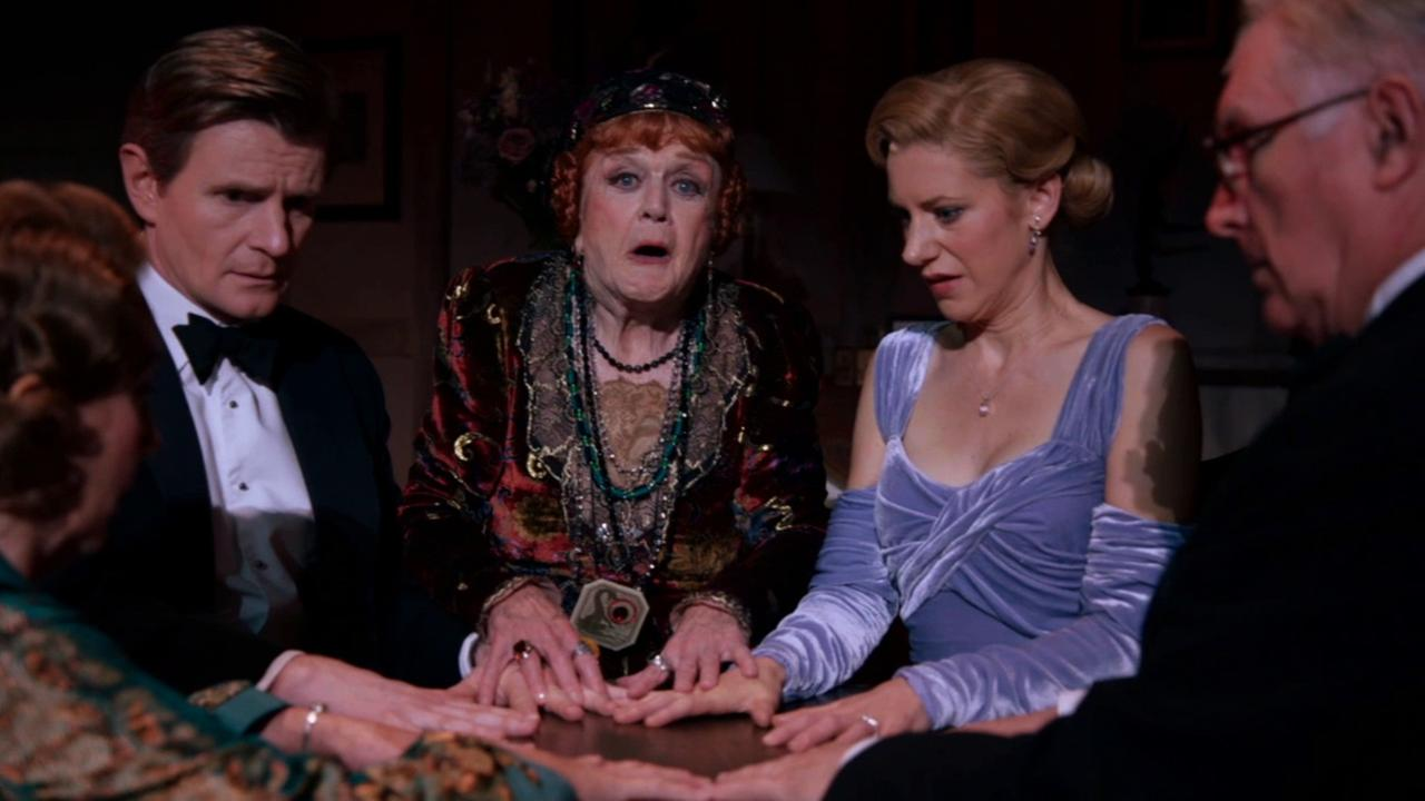 Actress Angela Lansbury performs in Blithe Spirit, a comedy playing at the Ahmanson Theatre until Jan. 18.