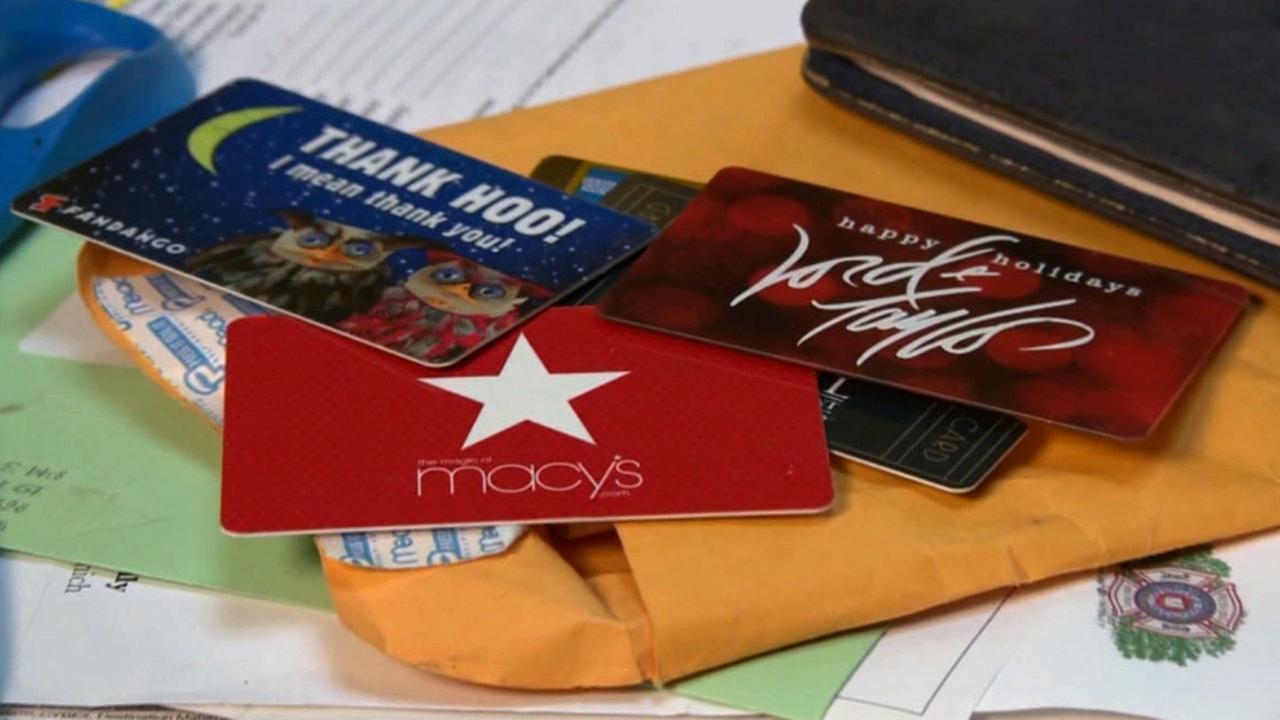 Gift cards to various retailers are shown in this undated file photo.