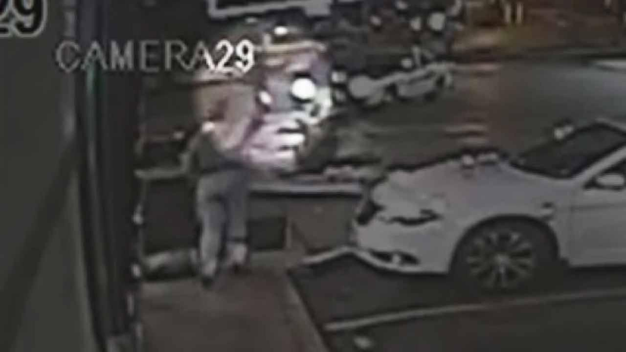 Police released surveillance video of the fatal police shooting in Berkeley, Missouri. The footage shows the suspect pointing at the officer.