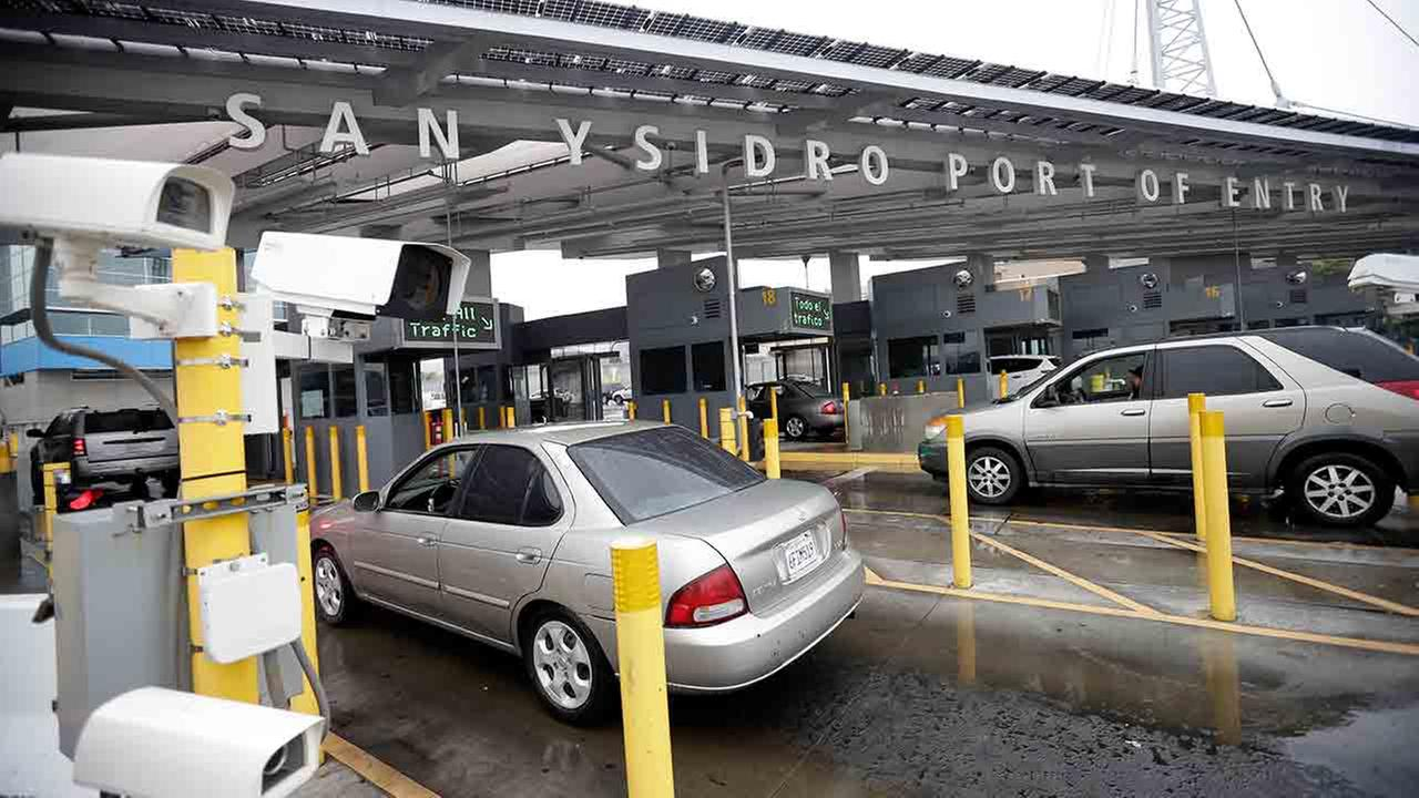 In this Dec. 3, 2014 picture, cars wait to enter the United States from Tijuana, Mexico through the San Ysidro port of entry in San Diego.