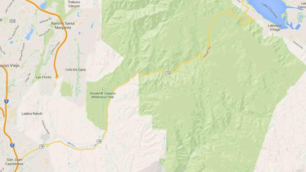 Ortega Highway between San Juan Capistrano and Lake Elsinore is seen in this Google Maps image.