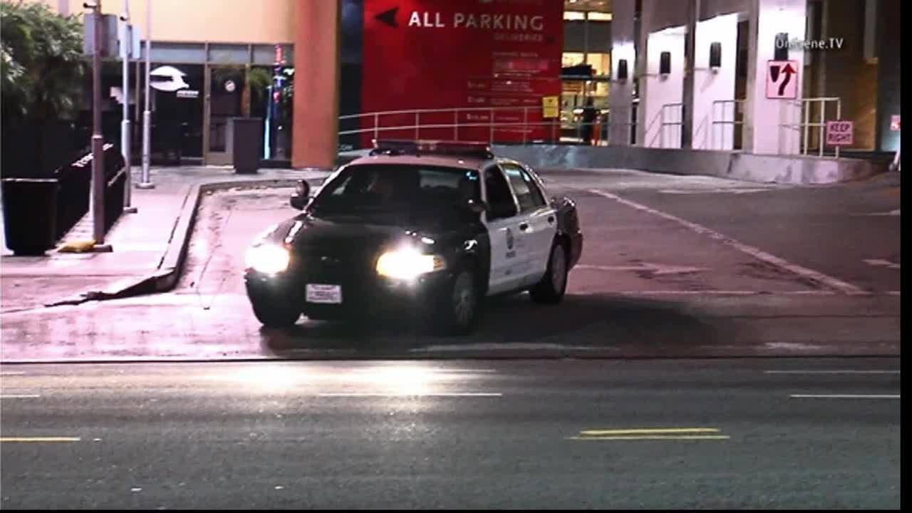 A woman was injured in an officer-involved shooting at the Hollywood and Highland Center on Friday, Dec. 26, 2014.
