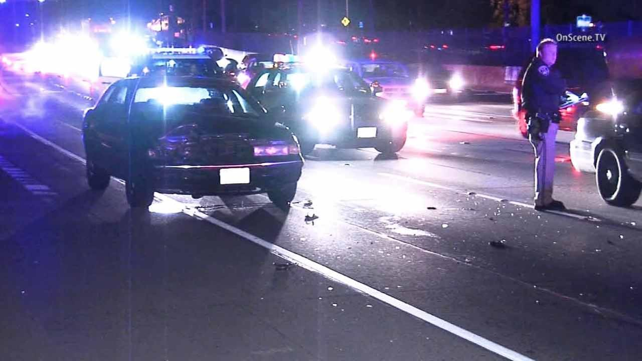 A South Gate woman was struck and killed by a hit-and-run driver in a pickup truck on the eastbound 105 Freeway in Willowbrook on Thursday, Dec. 25, 2014.
