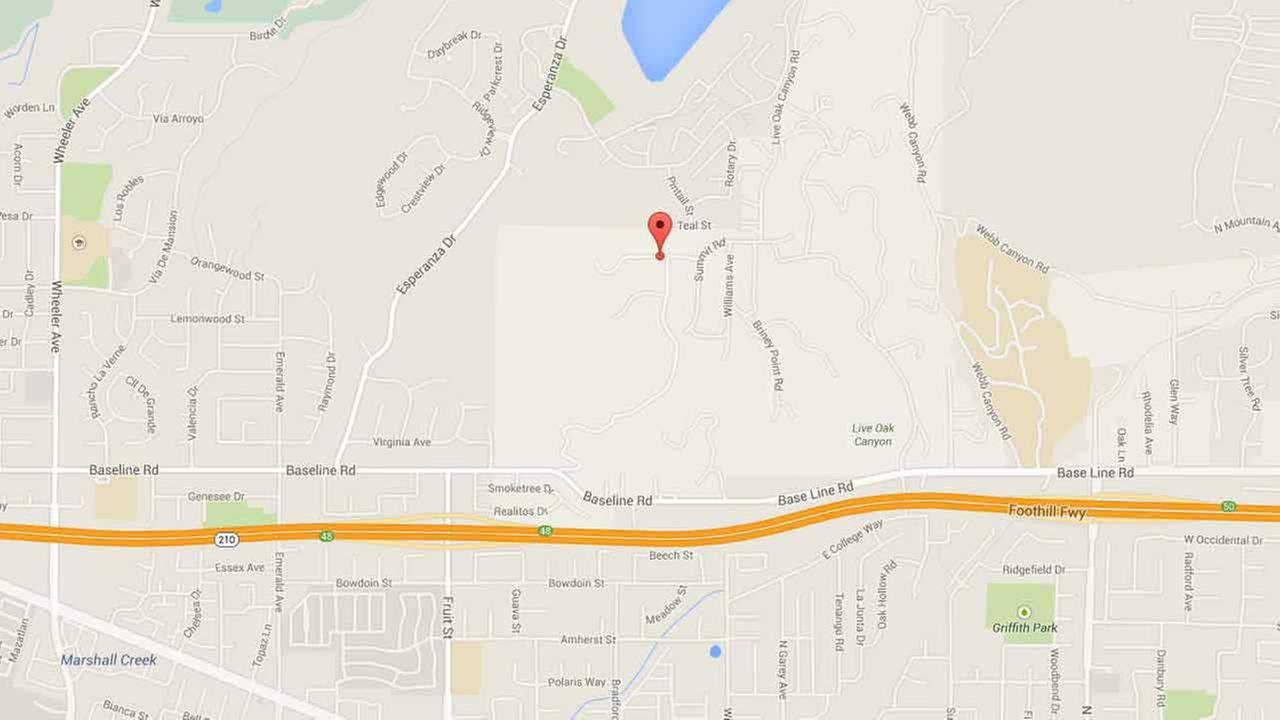 This Google Maps image shows the location of a stabbing in the 300 block of Roughrider Road in La Verne on Friday, Dec. 26, 2014.