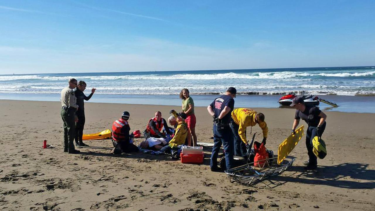 A person was bit by a shark at the Sand Spit Beach in Montana de Oro State Park on Sunday, Dec. 28, 2014.