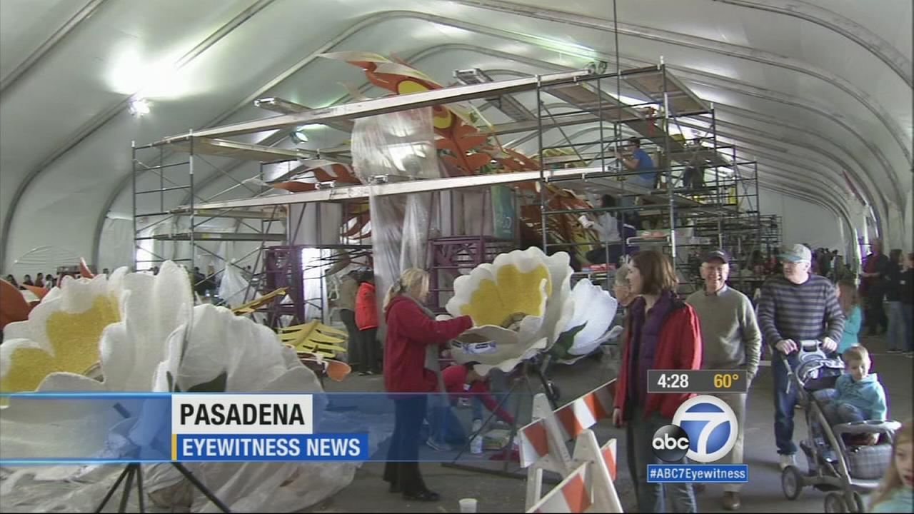 Anyone interested in viewing the Rose Parade floats can get a sneak peek before they make their grand debut on Colorado Boulevard New Years Day.