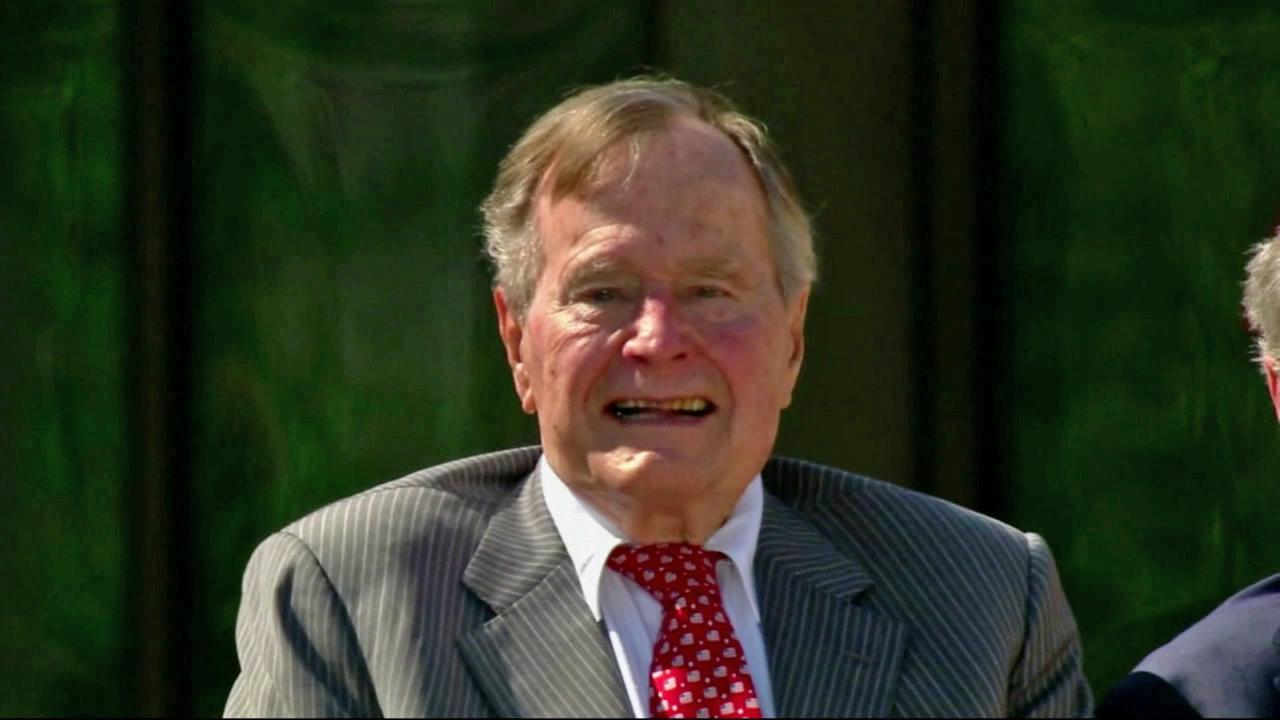 Former President George H.W. Bush is seen in this undated file photo.