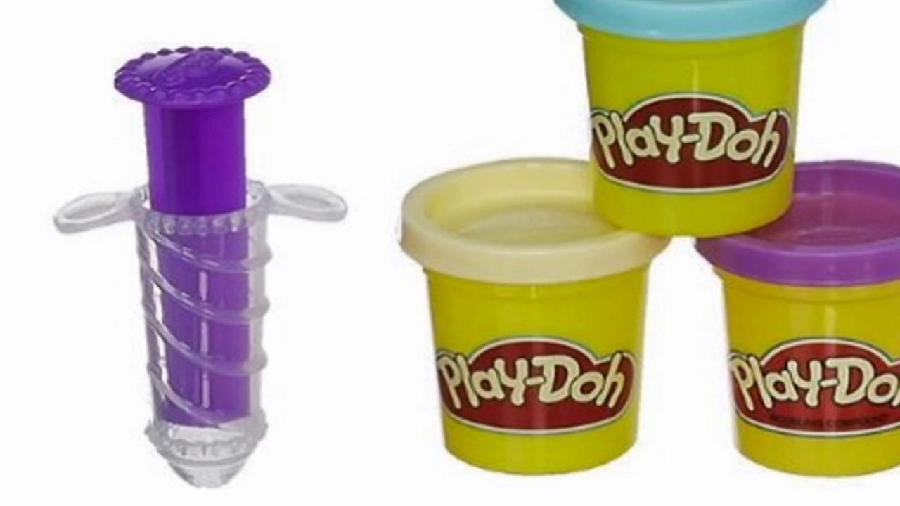A Play-Doh toy, pictured left, is causing controversy due to its phallic shape.