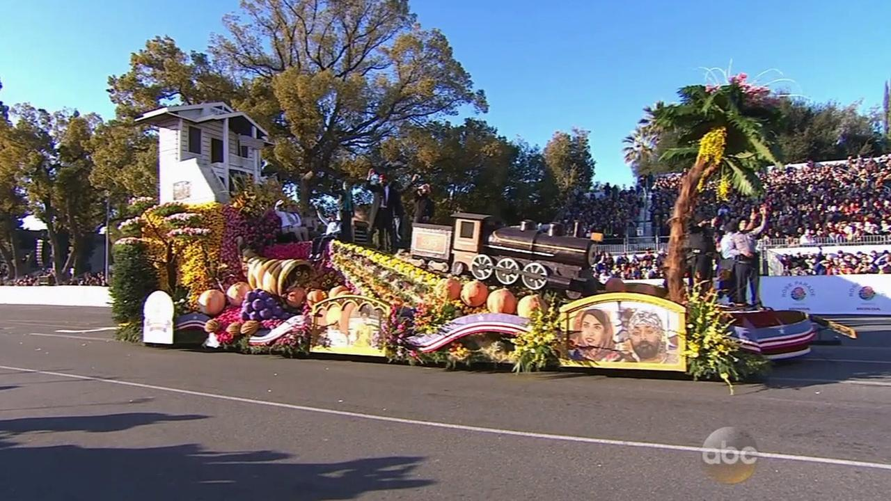 The United Sikh Mission float is 23 feet high and 55 feet long at the Pasadena Rose Parade on Jan. 1, 2015.