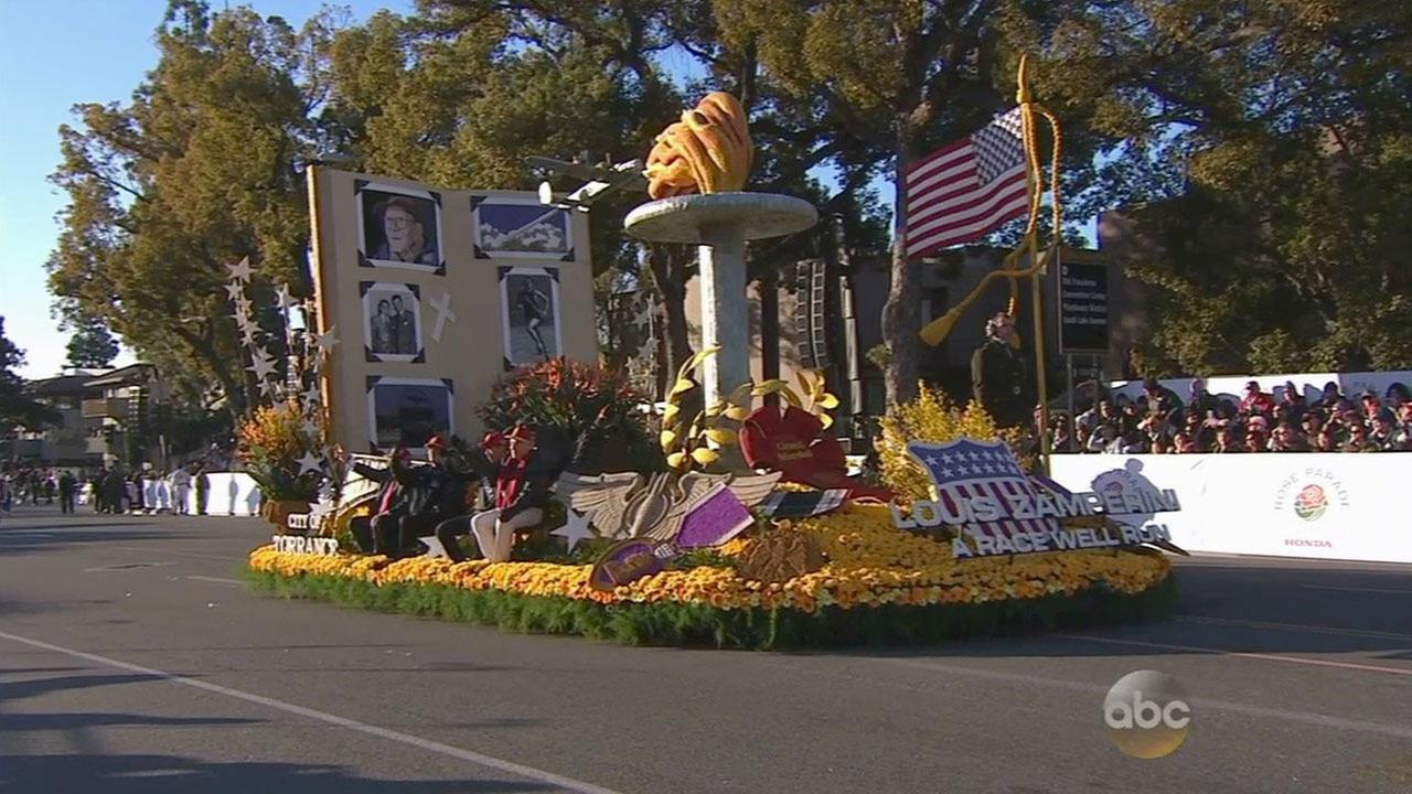 The City of Torrance float honoring Louis Zamperini won the 2015 Rose Parades Theme Award.