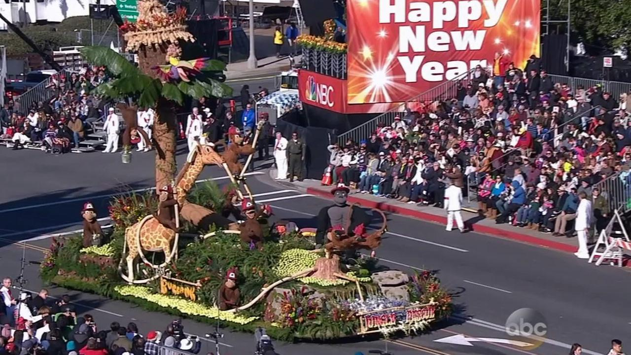 The Burbank Tournament of Roses Association went with a wild jungle theme at the 126th Rose Parade in Pasadena on Thursday, Jan. 1, 2015.
