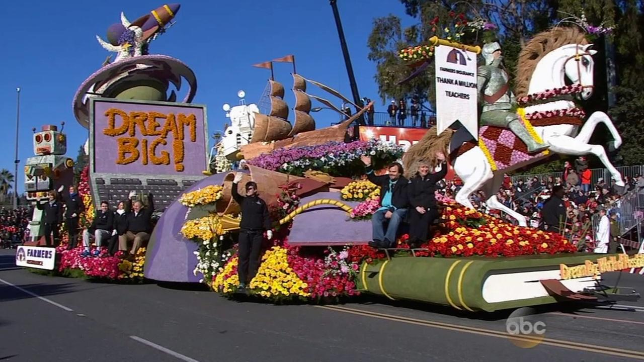The Farmers Insurance float, featuring spokesperson and actor Jack Black, was one of the winners at the 2015 Rose Parade.