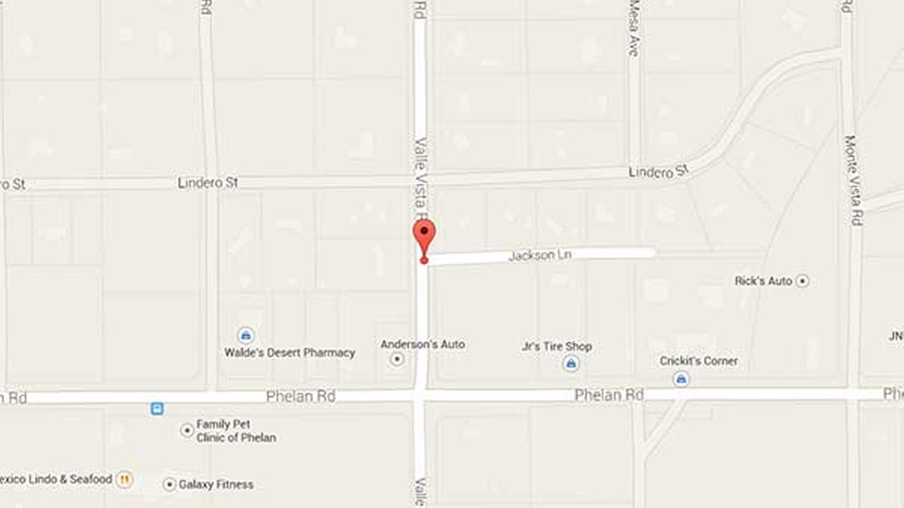 A Google Map shows the 4500 block of Jackson Lane, where a female victim was fatally shot on Wednesday, Dec. 31, 2014.
