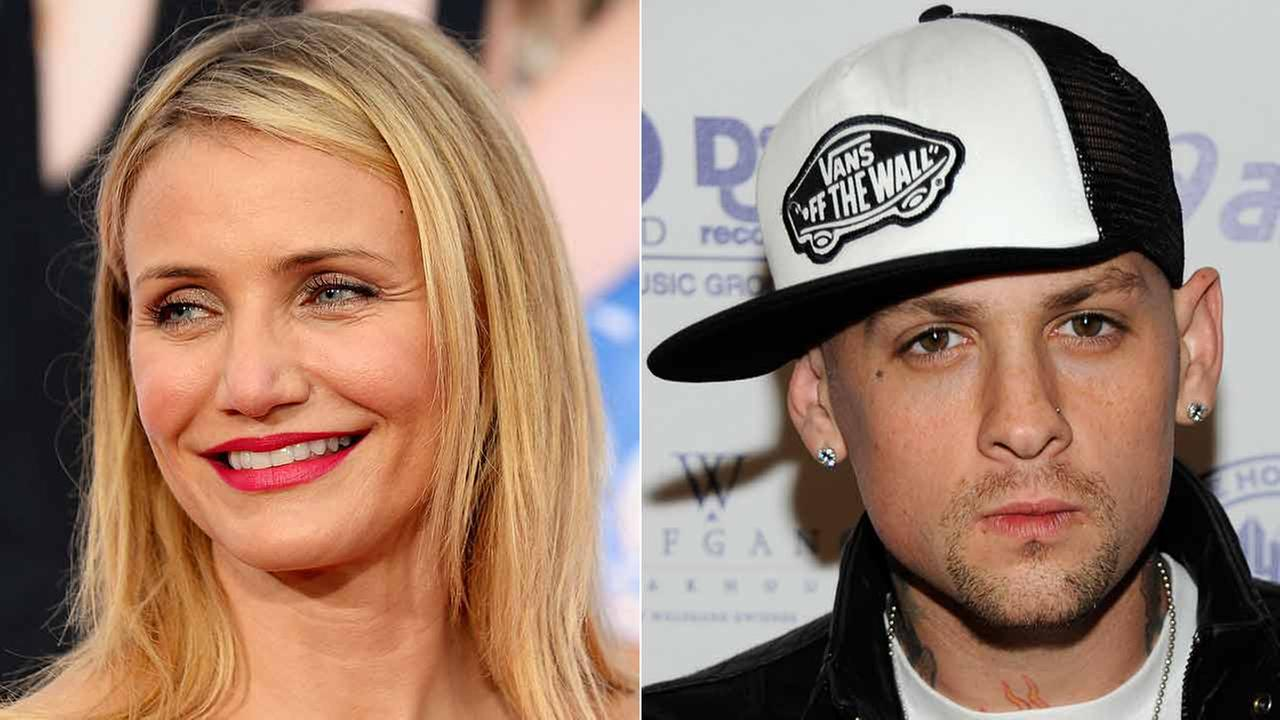 (Left) Cameron Diaz arrives at the L.A. premiere of The Other Woman April 21, 2014. (Right) Musician Benji Madden poses at the Island Def Jam Grammy party Feb. 8, 2009.