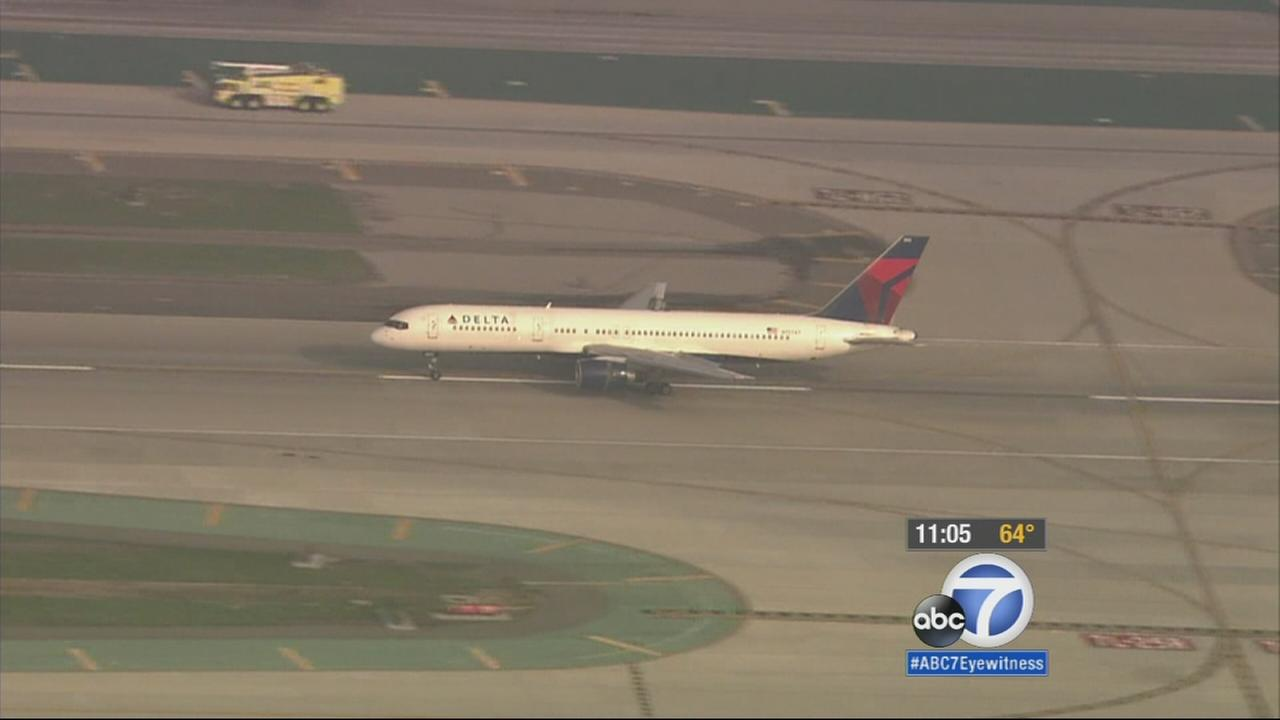 A Delta Air Lines flight from L.A. bound for Minneapolis made an emergency landing at LAX after experiencing a problem at departure on Tuesday, Jan. 13, 2015.