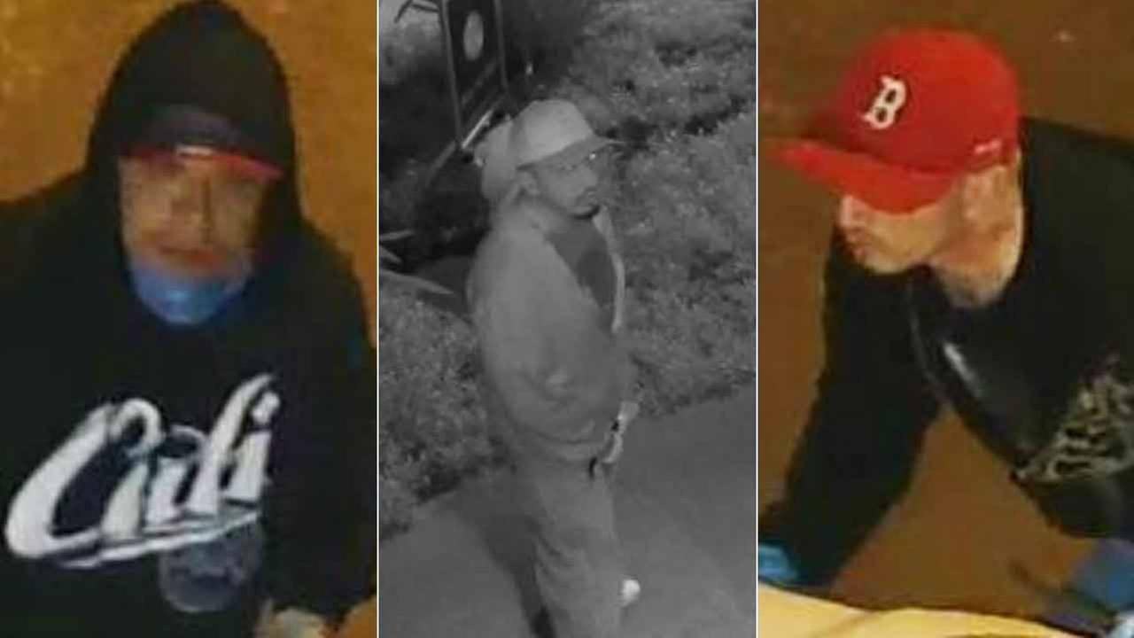 Suspects in a burglary ring targeting Apple computers and laptops in Ventura, Santa Barbara and northern Los Angeles counties are shown in surveillance images.