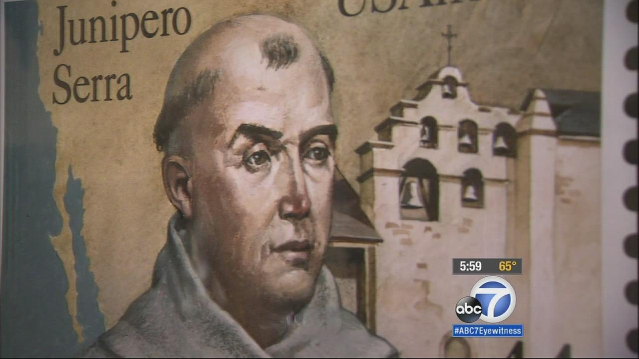 Franciscan missionary Junipero Serra is shown in an undated file image.