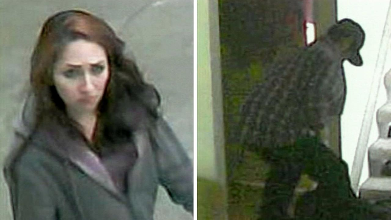 A woman and a man are suspected in more than 14 burglaries in Monterey Park. They were caught on surveillance video on Monday, Jan. 12, 2015.