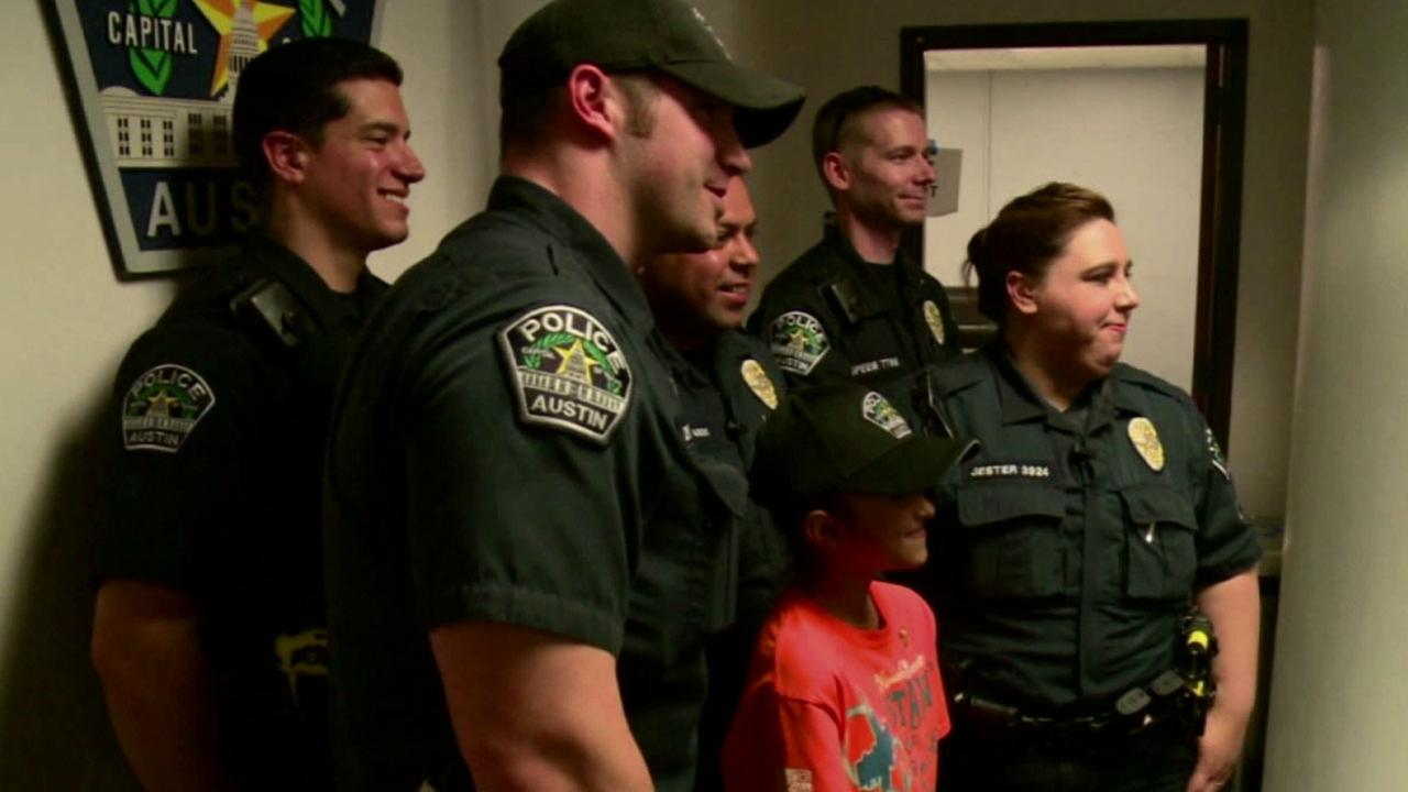 Savannah Solis, 10, spent her Christmas break writing hundreds of thank you cards to police in New York and across Texas.