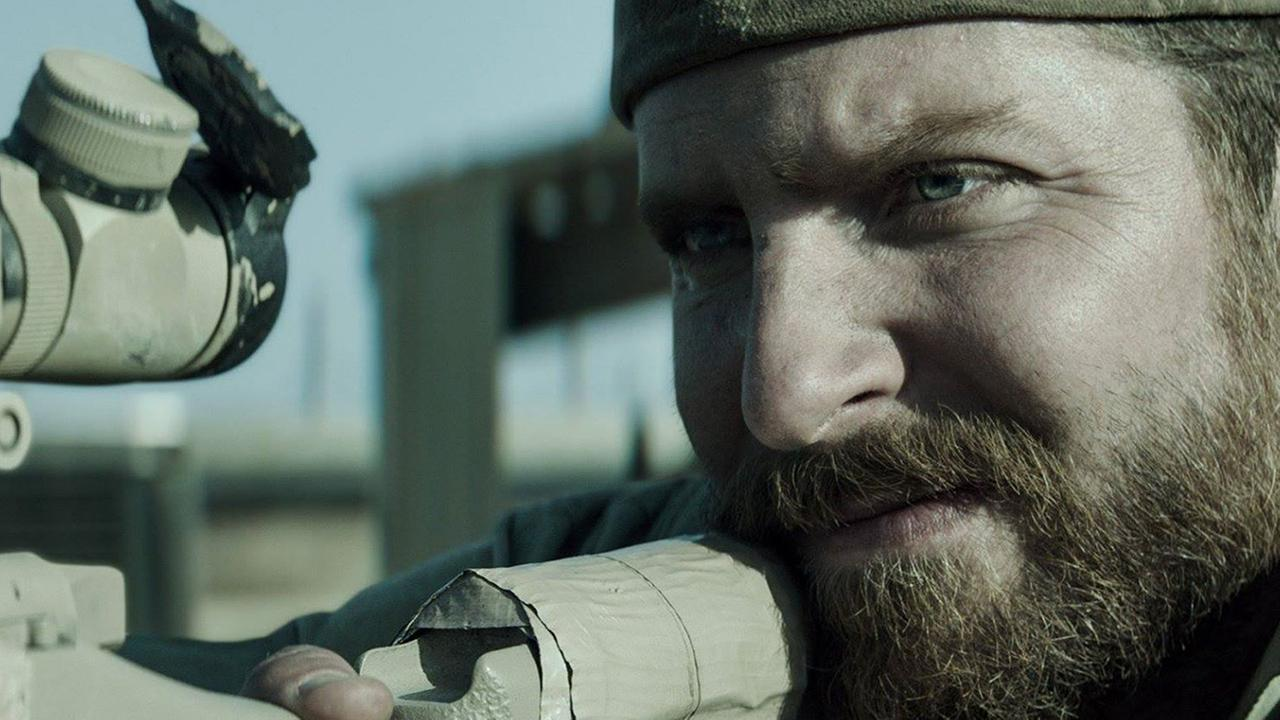 Bradley Cooper appears in a scene from American Sniper.