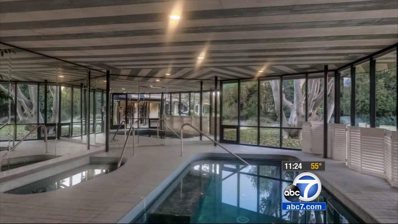 The pool at Bob and Dolores Hopes Toluca Lake estate is shown in this file photo.