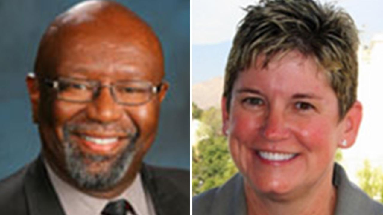 Finance Director Andrew Green (left). Public Works Director Siobhan Foster (right).