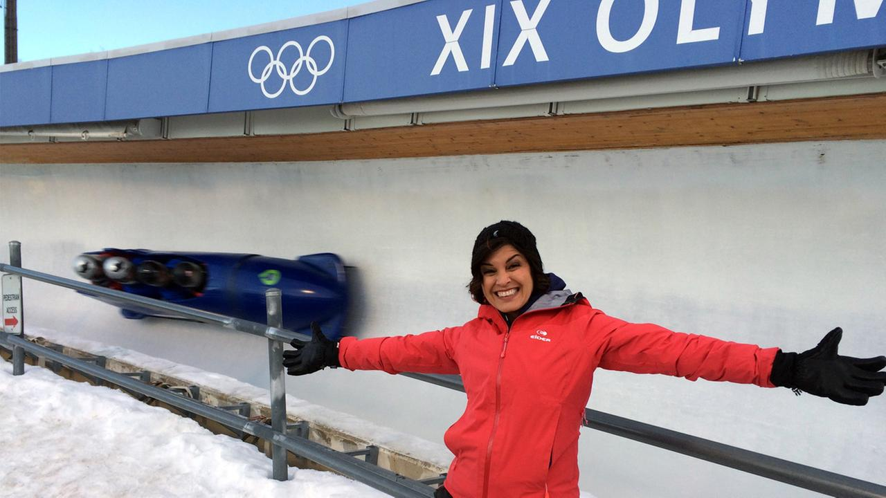 Eye on L.A. host Tina Malave checks out Utah Olympic Park.
