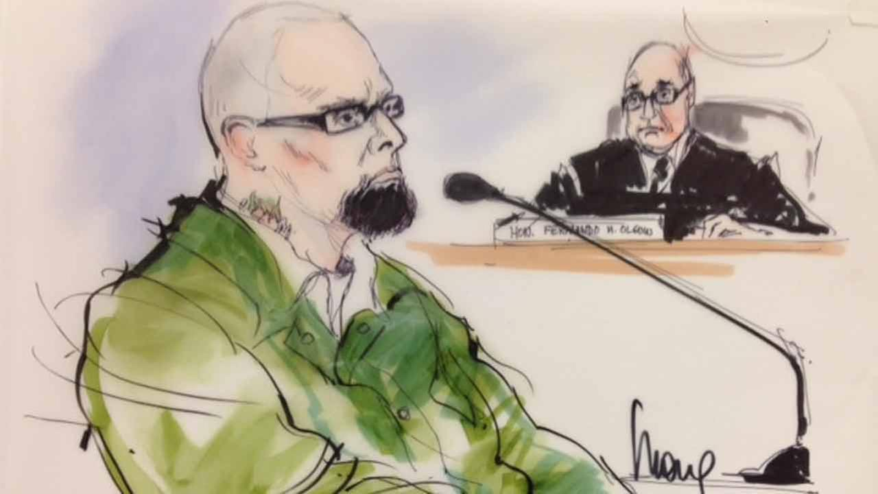 Marvin Norwood is shown in a courtroom sketch on Thursday, Jan. 22, 2015.