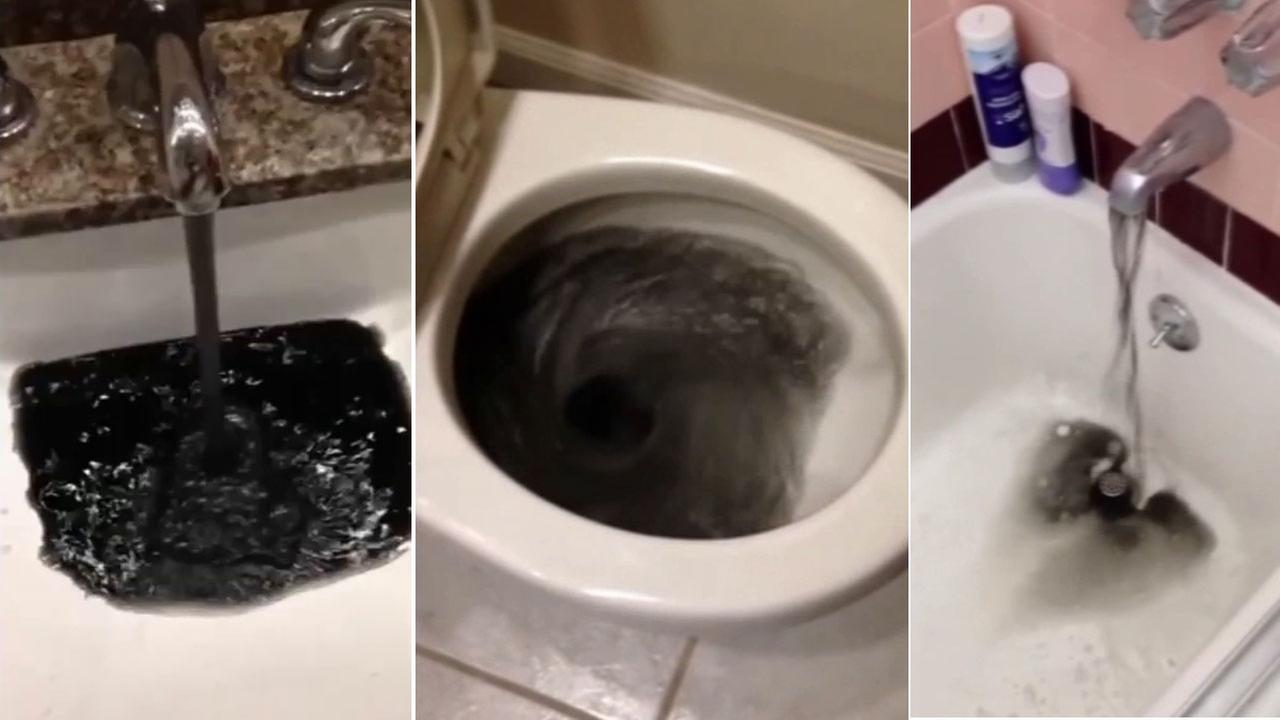 Black water coming out of faucets in California neighborhood | abc13.com