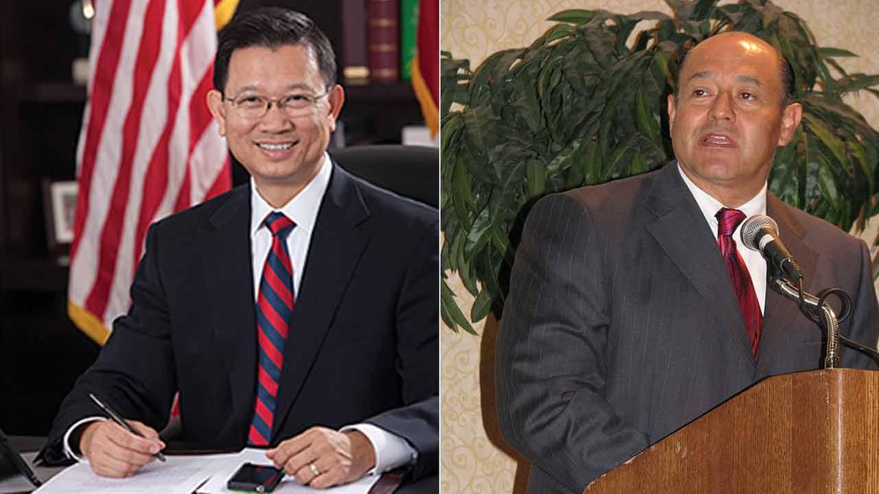 (Left) Andrew Do, the chief of staff for former Supervisor Janet Nguyen, and former state Sen. Lou Correa (right) are shown in file photos.