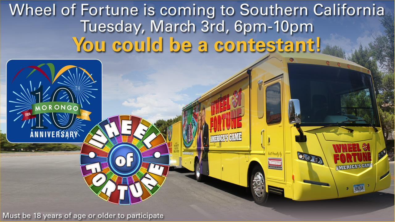 Wheel of Fortune coming to SoCal!