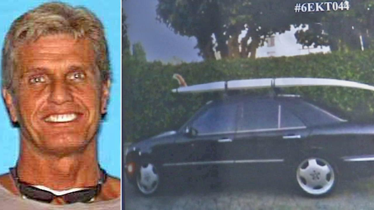 Missing Fox executive Gavin Smith is seen left, and his black 2000 Mercedes-Benz 420E is seen right. Smiths disappearance was investigated as a homicide after the Mercedes was found at a storage facility in Simi Valley on Thursday, March 14, 2013.
