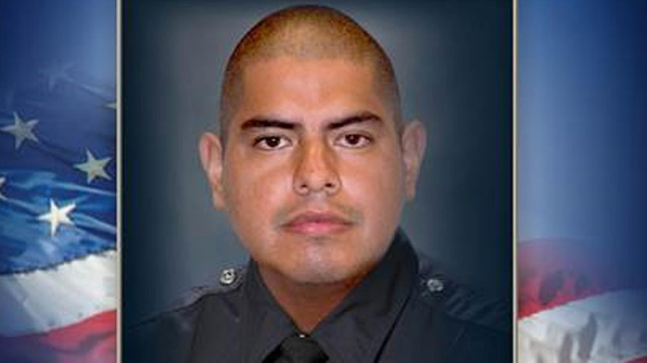 LAPD officer Robert Sanchez was killed in a hit-and-run crash while in pursuit of a suspect on Saturday, May 3, 2014.