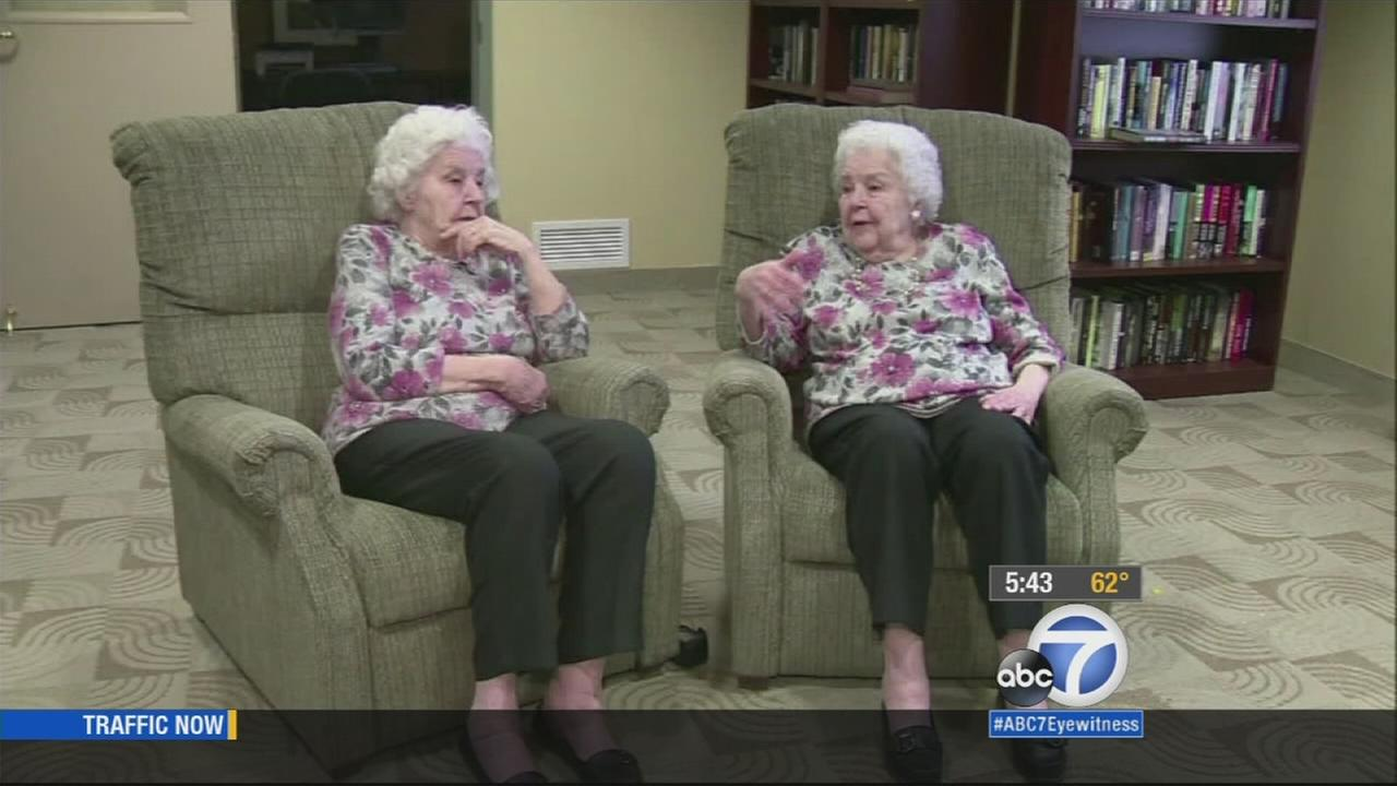 Helen and her identical twin sister, Lucille, are celebrating their 90th birthday.