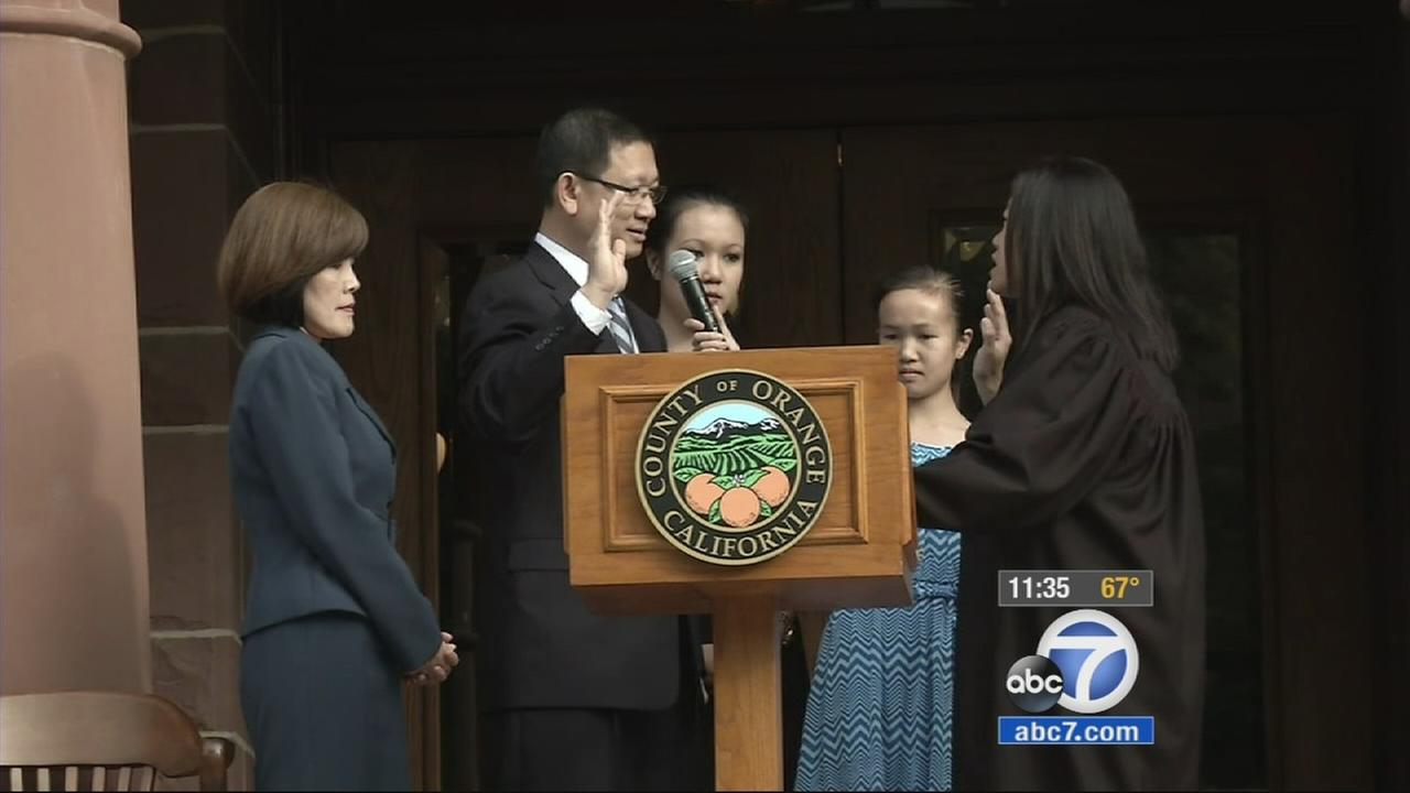 Andrew Do is sworn in as supervisor of the 1st District on Tuesday, Feb. 3, 2015.