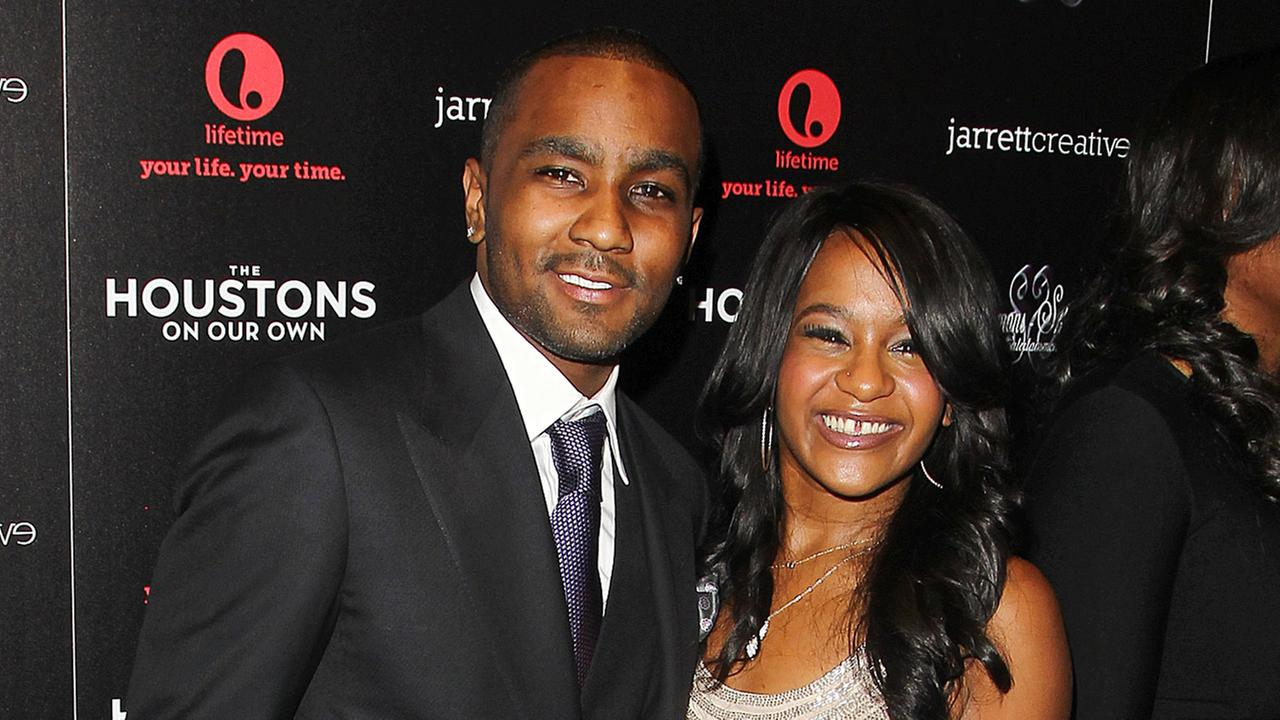 This Oct. 12, 2012 file photo shows Nick Gordon and Bobbi Kristina Brown attending the premiere party for The Houstons On Our Own at the Tribeca Grand hotel in New York.