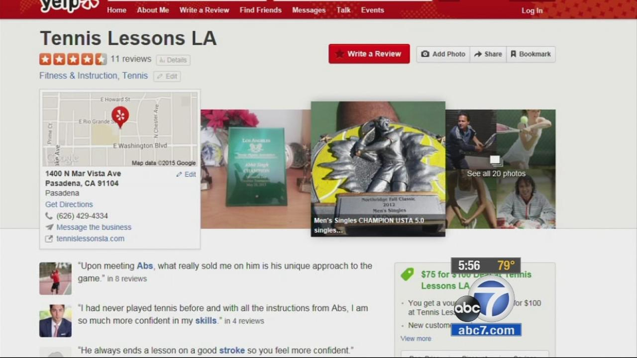 A Yelp business page is shown in this file photo.