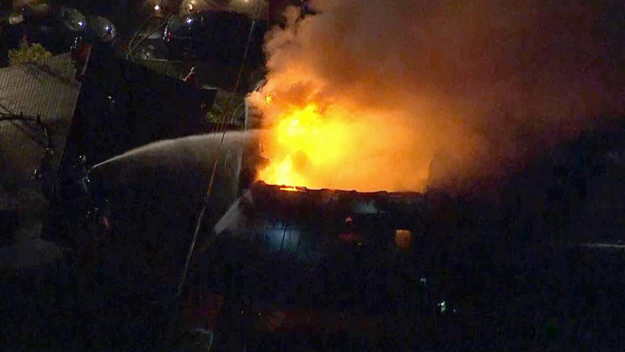3 Alarm Fire Damages Garden Grove Homes