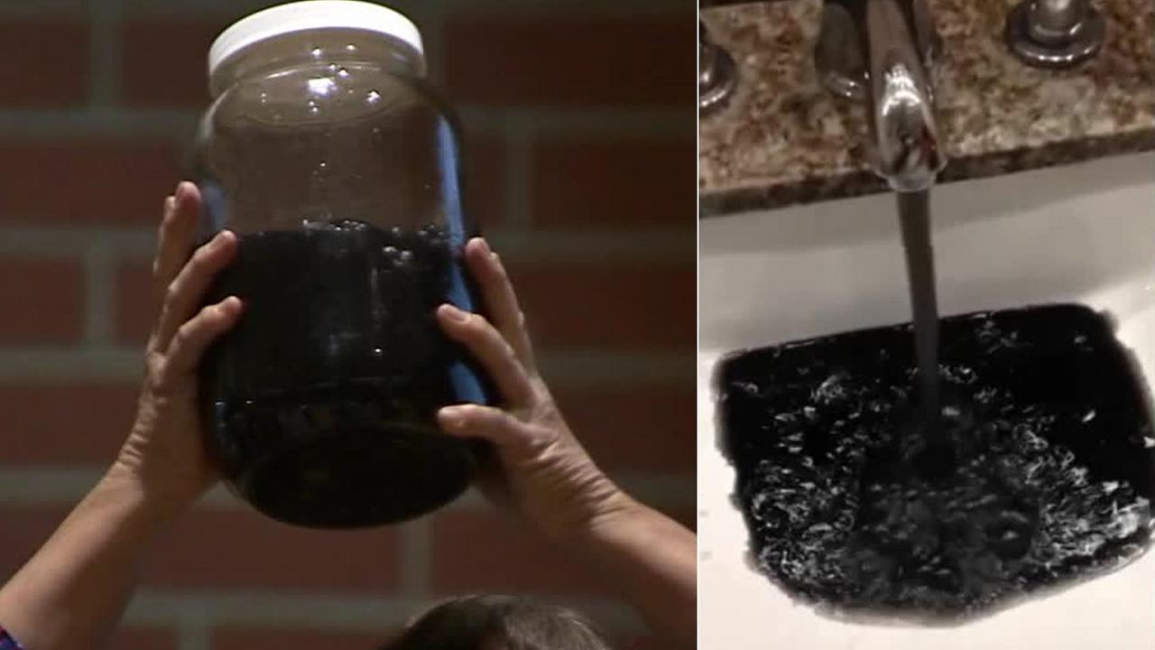 Gardena residents attended a public meeting on Thursday, Feb. 12, 2015, regarding black tap water coming from their faucets.