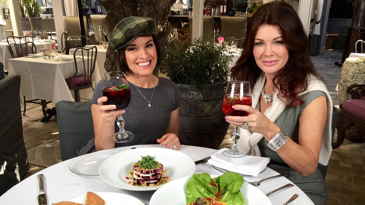 Eye on L.A. host Tina Malave dines with Lisa Vanderpump at the reality stars Beverly Hills restaurant PUMP.