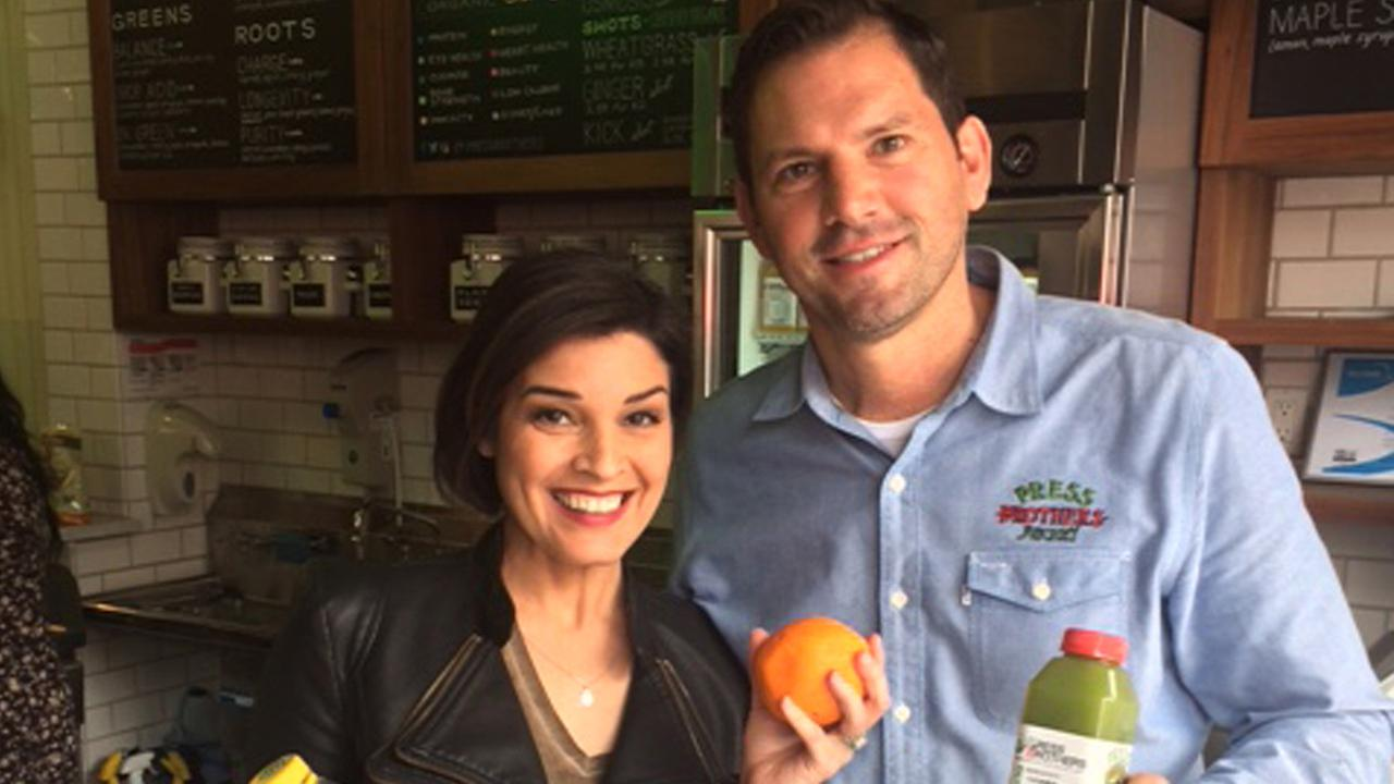 Eye on L.A. host Tina Malave gives the juicing trend a try at Press Brothers Juicery.