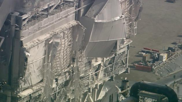 Damage is seen from AIR7 HD after an explosion at the Exxon Mobil refinery in Torrance on Wednesday, Feb. 18, 2015. <span class=meta></span>