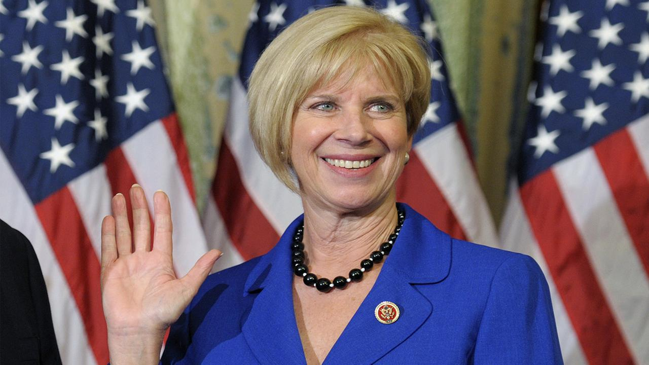 Rep. Janice Hahn, D-Calif. participates in a mock swearing in ceremony on Capitol Hill in Washington as the 113th Congress began on Jan. 3, 2013.