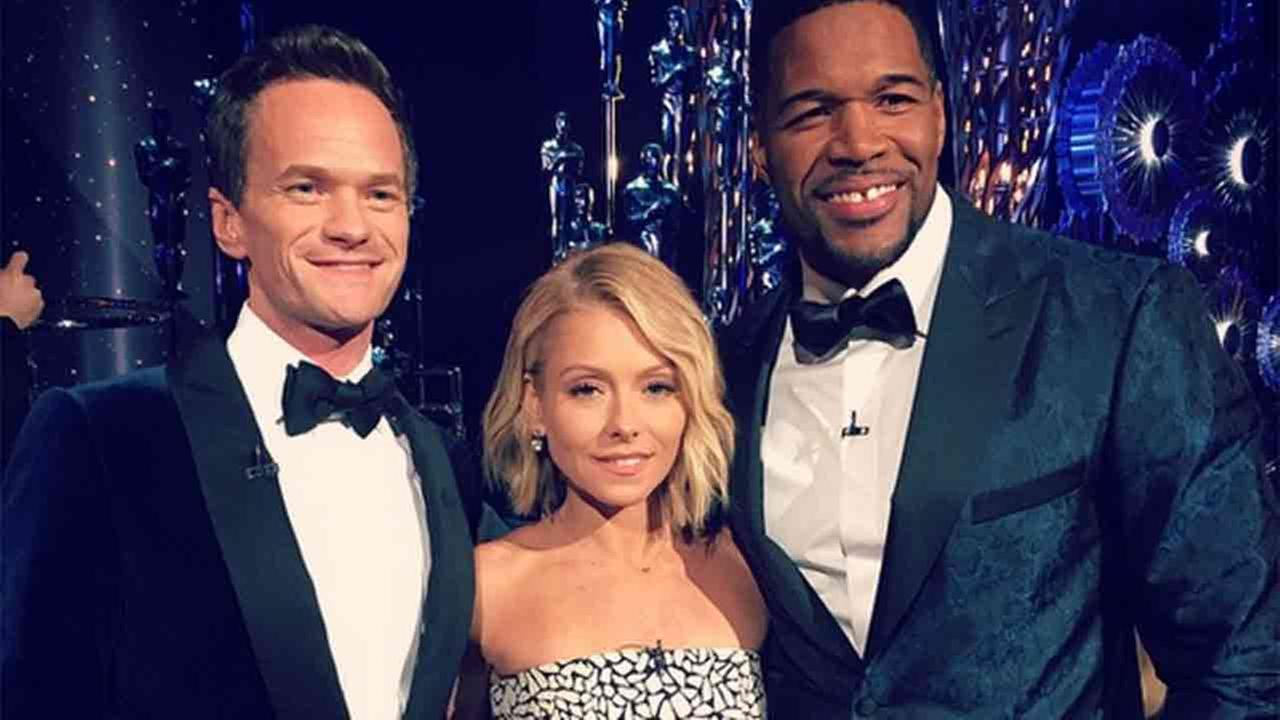 Oscar host Neil Patrick Harris joined Kelly Ripa and Michael Strahan on Live with Kelly and Michael and discussed the spoof that put him on stage in his tighty-whities.