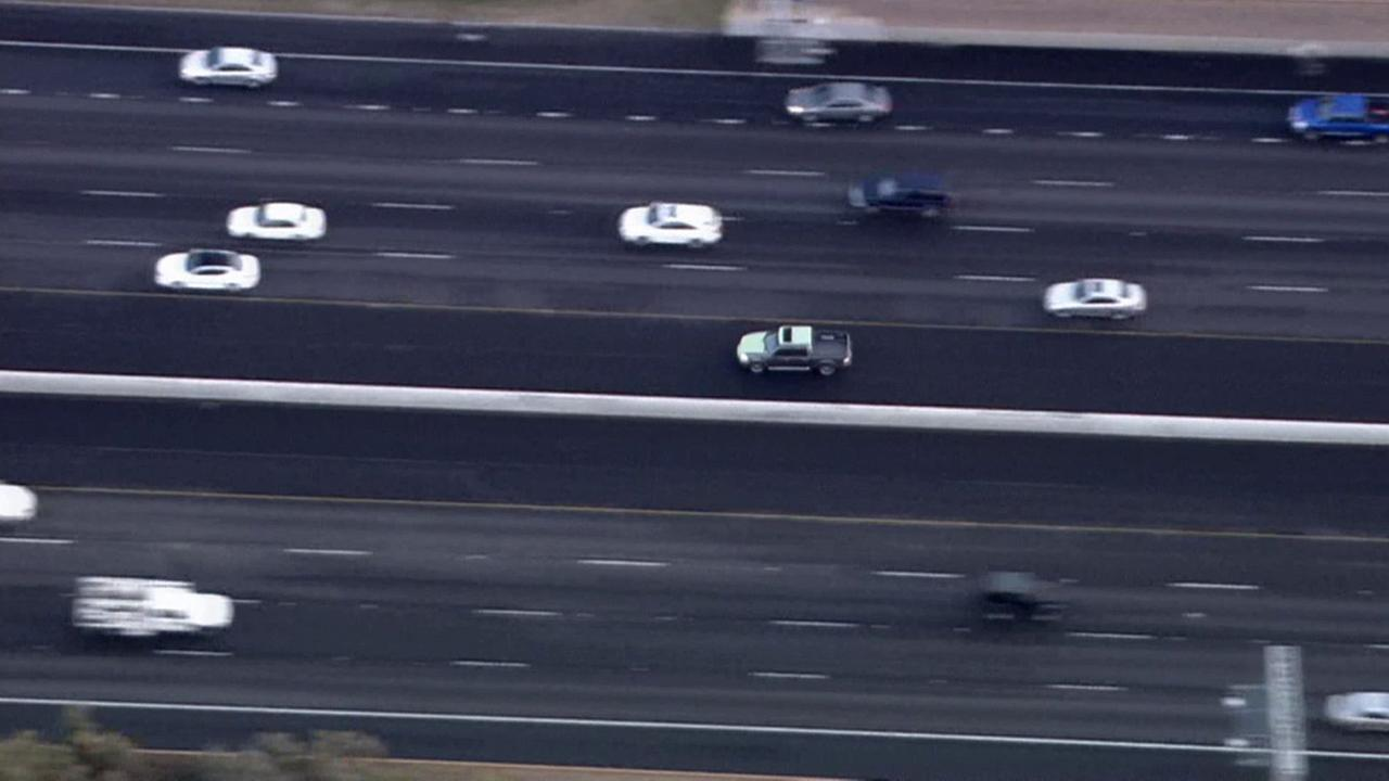 LAPD chase a reckless driver from Northridge through Simi Valley on Monday, Feb. 23, 2015.