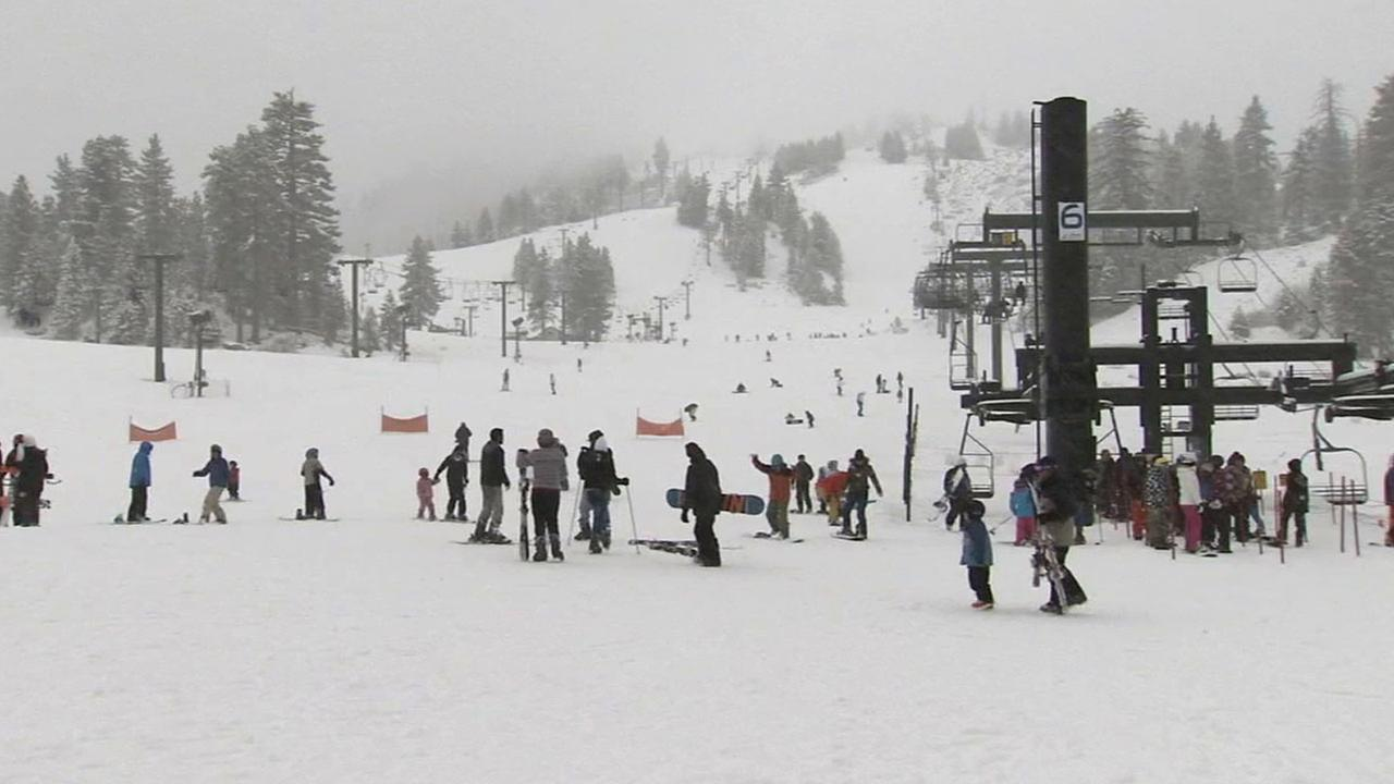 It was a snowy day up in the mountains Sunday, March 1, 2015, a welcome sight for the resorts that have received very little real snow this season.