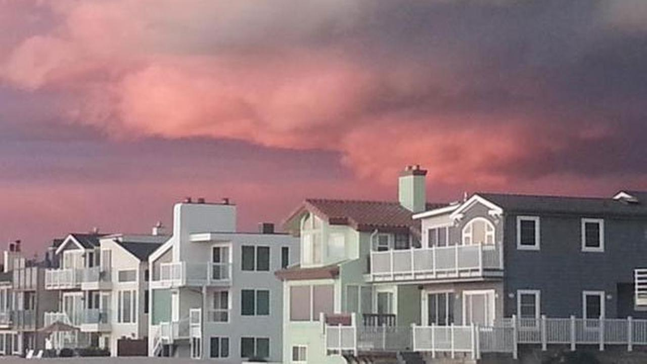 Storm clouds are seen over Port Hueneme on Sunday, March 1, 2015, in this photo from ABC7 viewer Julie Senzig.