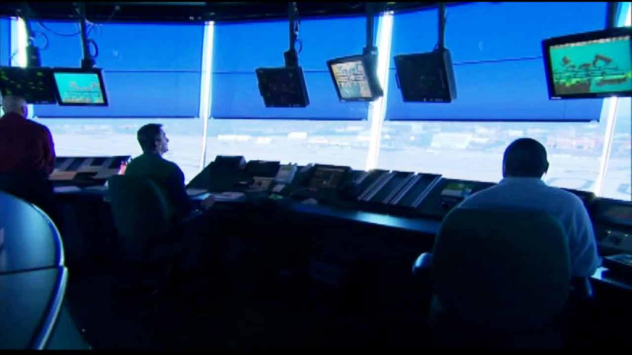 An air traffic control room is shown in this undated file image.